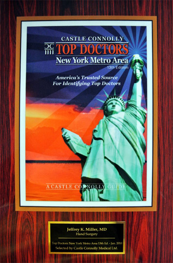 Top Hand Surgeon in NJ in 2010 Recognition